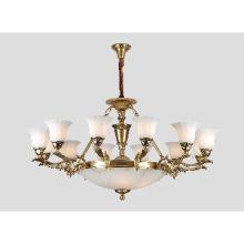 Brass Chandelier Glass Shades Pendant Lamp