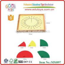 Montessori Pädagogisches Spielzeug Kreis Fraktion Geo Board