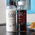 Copo quente da água da venda da capacidade alta 550ml, garrafa de vidro nova da água do projeto