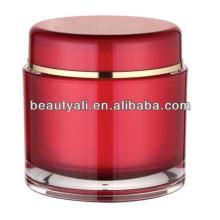 Frasco de acrílico poner crema cosmético de la forma redonda 200ml para el embalaje