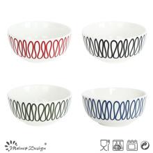 Bol en porcelaine de 13 cm avec impression créative de lignes