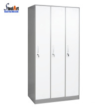 Hot sale 3 door metal wardrobe almirah designs with price