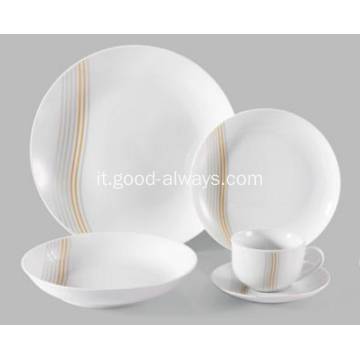 20 pezzo Coupe porcellana Dinnerset belle linee