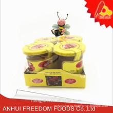 Precio puro de la miel de la abeja de la naturaleza en la pequeña botella de cristal 80g para la venta
