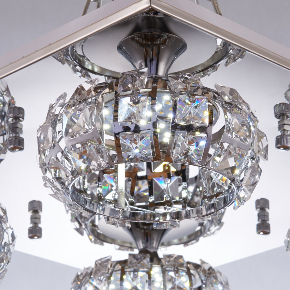 Simple indoor crystal chandelier ceiling light