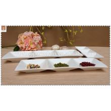 3 platos de cocción de porcelana blanca conectiva2014