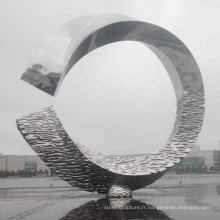 Art moderne décoration extérieure grand inox sculpture œuvres d'art