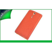 Wallet Genuine Leather Cell Phone Cover With Card Holder ,