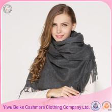 2107 precios de fábrica bufanda hecha punto de la cachemira de las mujeres de encargo de la calidad excelente