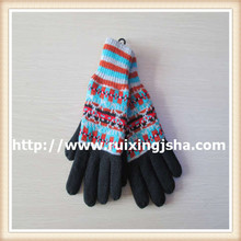 Women's snowflake thick Knitted Gloves