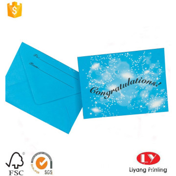 Stampa di carte regalo all'ingrosso con packaging per buste