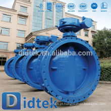 Didtek WCB Flange Worm Gear Operate Butterfly Valve