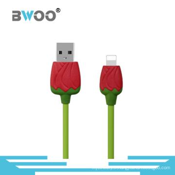 Rose Câble de données USB pour téléphone portable de bonne qualité