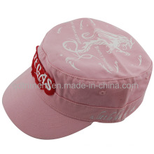 Raw Edge Patch Applique Embroidery Washed Military Cap (TRNM004)