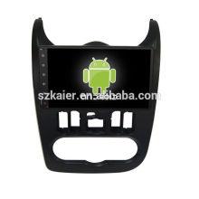 Quatro núcleos! Android 6.0 carro dvd para LOGAN / SANDERO com 9 polegadas tela capacitiva / GPS / Link Mirror / DVR / TPMS / OBD2 / WIFI / 4G