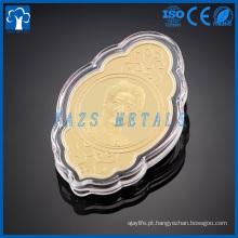 Moeda personalizada de metal 24k