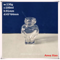 100ml Heart Shape Glass Jam Jars