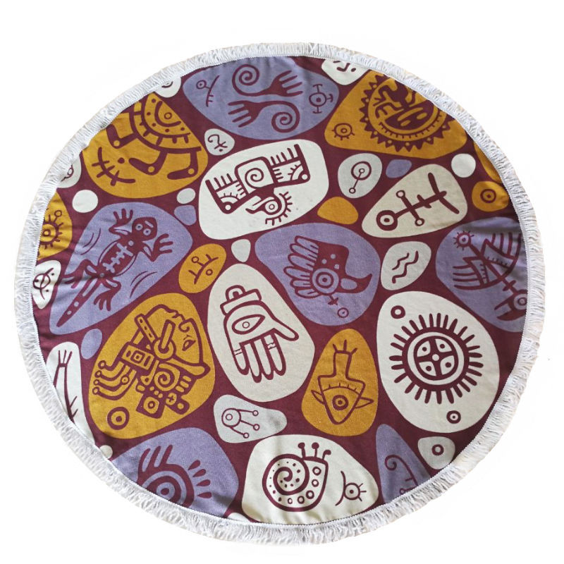 Leaves Beach Towel Round