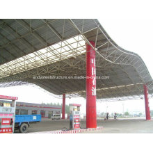 Estructura de acero segura y confiable Canopy de la gasolinera