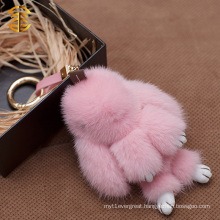 2016 Newest and High Level Fur Accessory or Gift Lovely Rabbit Bag Charm Mink Fur Keychain