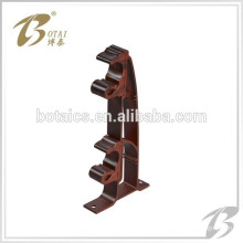 High quality fashionable plastic curtain bracket single and double metal curtain rod bracket