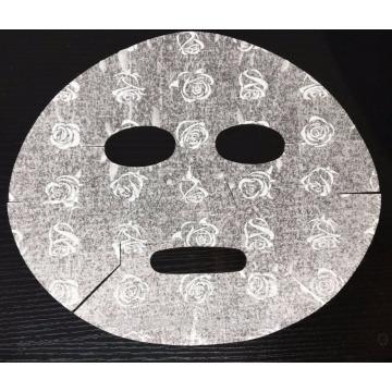 Cuidado de la piel de belleza Dry Nonwoven Printed Colors Máscara facial 3D Rose Printing Facial Mask Sheets