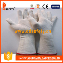 Natural Cotton/Polyester Gloves Long Cuff, String Knit (DCK712)