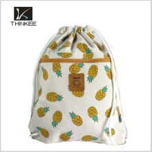 Give Away Factory Price Logo Printed 210D Polyester Drawstring Mochila Bolsa