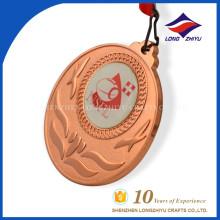 Medalhas de plástico em branco em cobre em branco