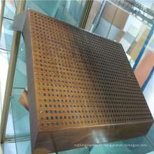 Panneaux en fibre de bois en aluminium pour la décoration d'intérieur en bois