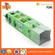 FDA aprobó la impresión personalizada de China gusset vacío vacío herbal bolsa de té biodegradable