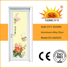 Chinese Style Colorful Glass Coated Aluminum Doors Interior (SC-AAD043)