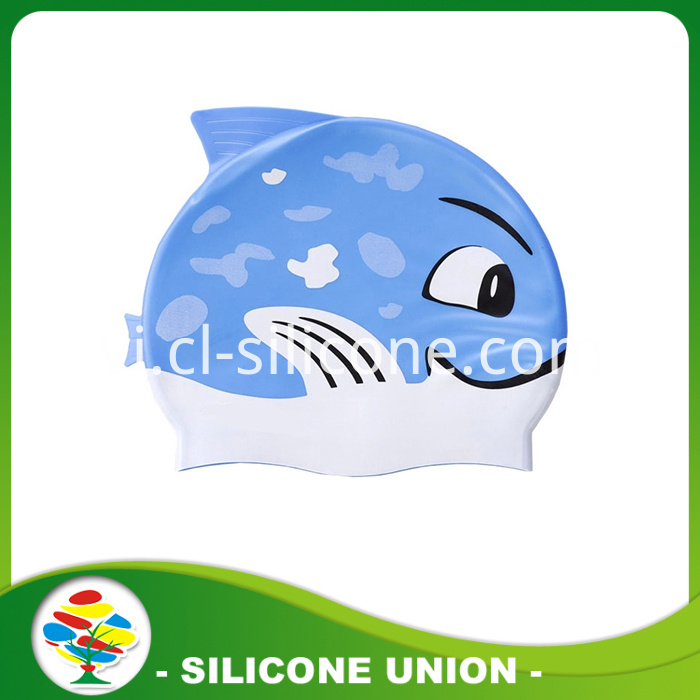 Blue black shark shape silicone cap
