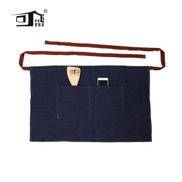 Padrão de avental de cintura de cozinha de jeans