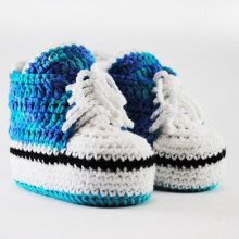 Knitted newborn booties Cotton soft converse shoes