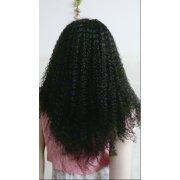 Jerry Curl enrollamiento afro peluca de 22 pulgadas