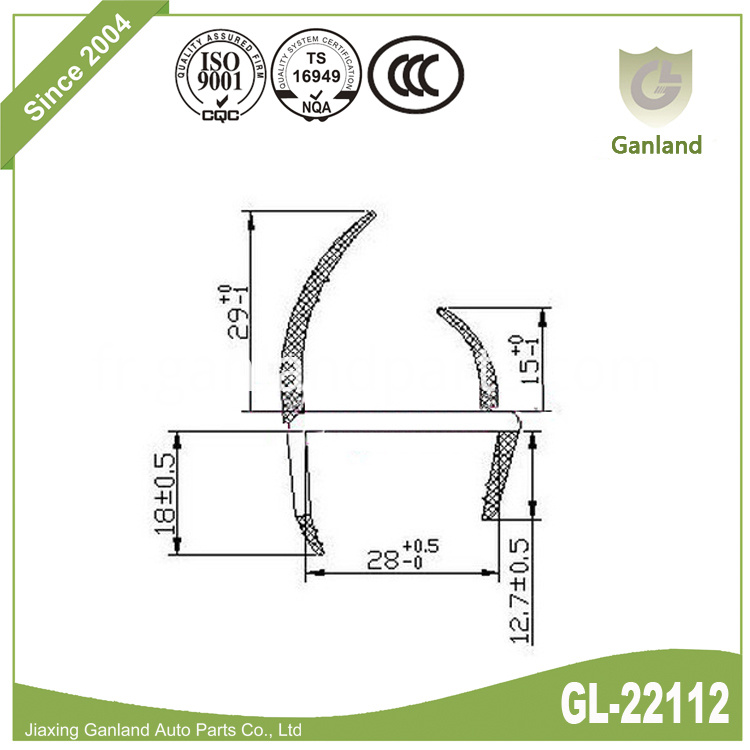 PVC H Seal Channel gl-22112
