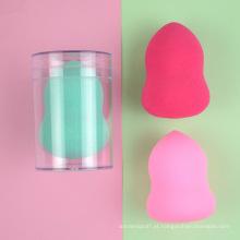 Forma redonda sopro esponja de látex sem maquiagem cosméticos