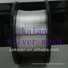 hot sale high quality&competitive price 0.05-8mm pure silver wire(30 years factory)