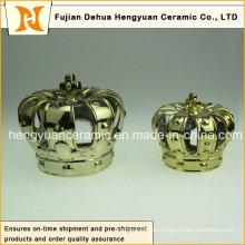 Surface Plating Keramik Crown Kerzenständer