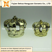 Superficie de cerámica Crown Crown Candle Holders