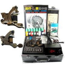 Kit de tatuaje profesional completo con 3 pistolas / potencia / agujas / tinta