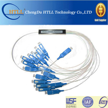 1X8 SC / APC Mini Loại Fiber Optic PLC Splitter