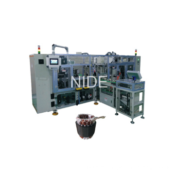 Four Station with Conveyor Type Automatic Stator Coil Lacing Machine