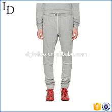 calça de jogger em branco francês terry atacado / treinamento / esporte suor calças