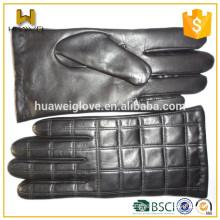 Wholesale Black Sheepskin Short Length Men's Driving Leather Hand Gloves