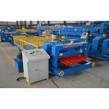 Colored Steel Glazed Tile Roof Panel cold steel Roll forming machine