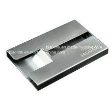 Titular do cartão de visita de metal