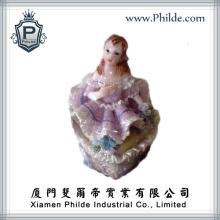 Girl Action Figure Ceramic Jewelry Box