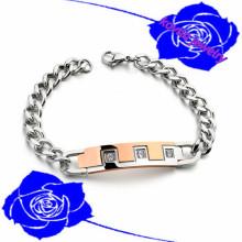 2015 Natal loja de varejo online homens mão vara homens cadeia 3161 pulseira de jóias de aço inoxidável pulseira de charme europeu